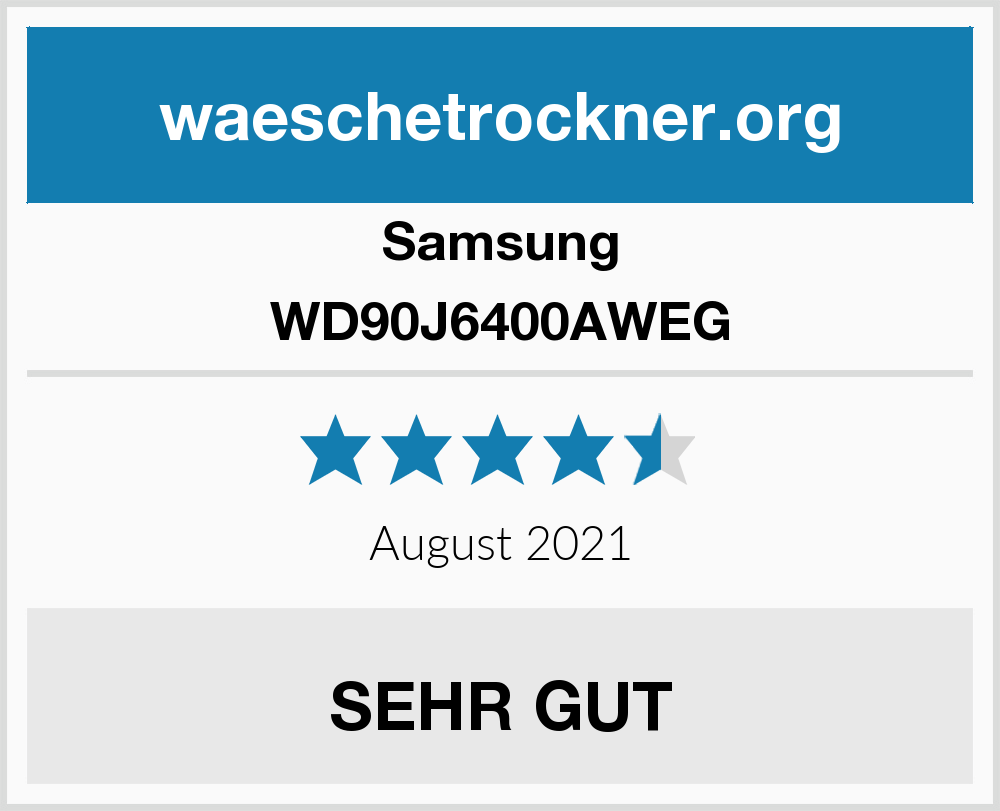 Samsung WD90J6400AWEG Waschtrockner Test
