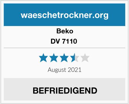 Beko DV 7110  Test